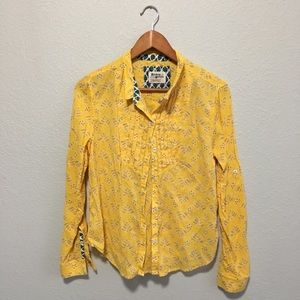 Anthropologie Holding Horses | Yellow Button Down